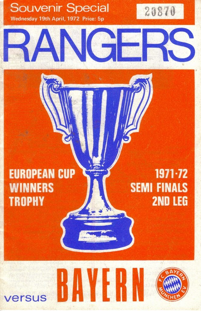 1972 Cup Winners Cup Semi Programme