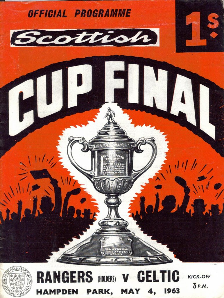 Rangers v Celtic 1963 Scottish Cup Final Programme