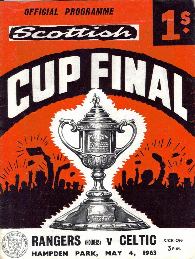 Rangers v Celtic 1963 Scottish Cup Final Programme