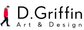 D Griffin Football Art Logo