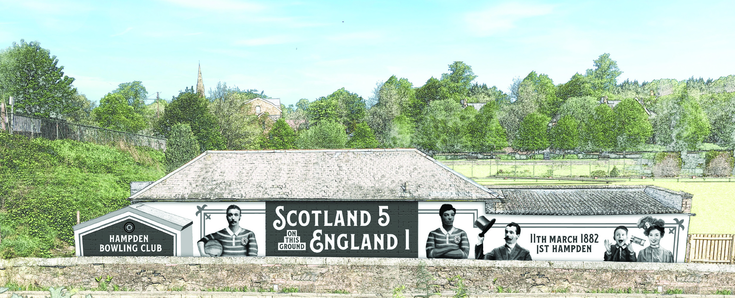 1st Hampden Mural Mock Up