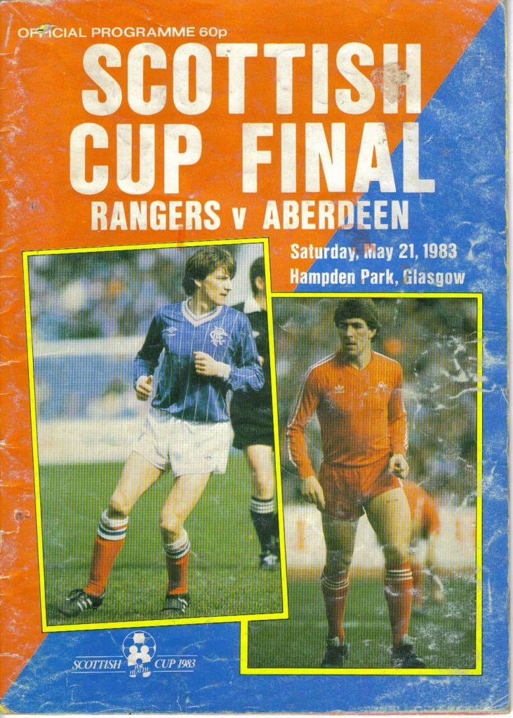 1983 Scottish Cup Final Programme